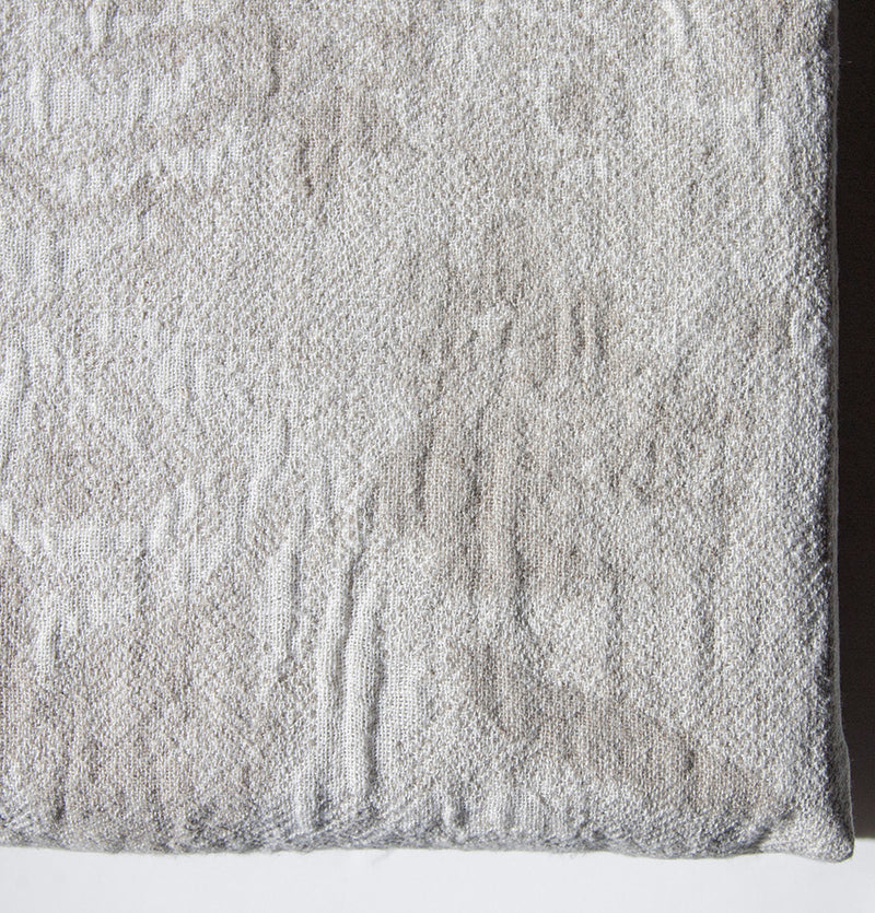 Softened Linen + Cotton Blanket, Jacquard, 225 cm x 235 cm, collection 'WRAP ME UP, BABY'