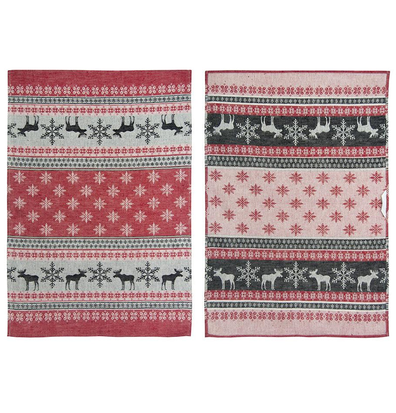 "Linen + Cotton Jacquard Tea Towels double-sided ""TEA-PARTY"", 3 pc - Treasure Box"