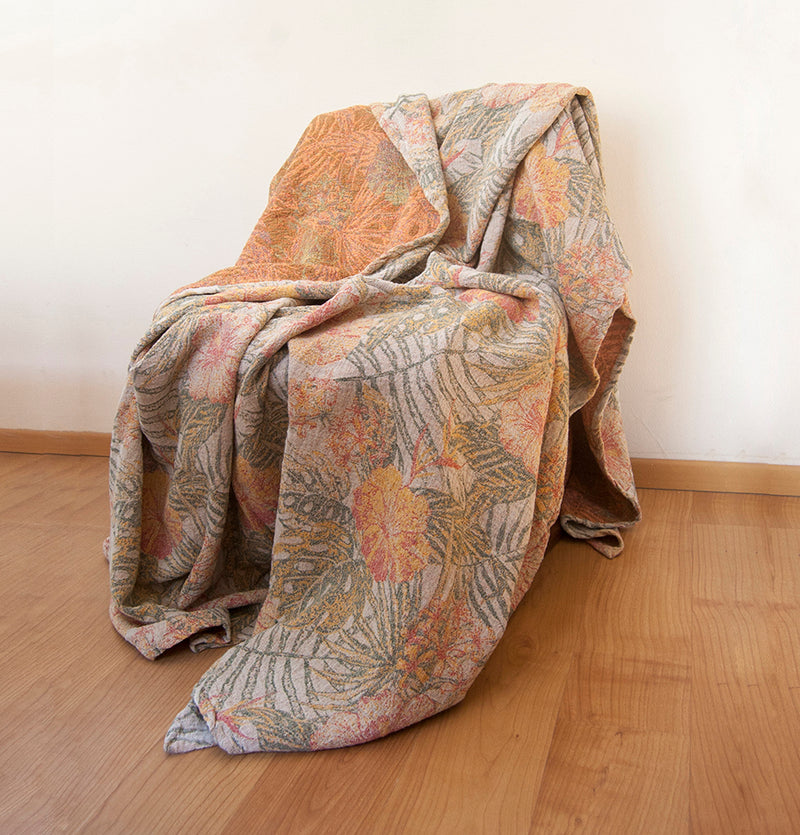 Softened Linen + Cotton Blanket, Jacquard, 200 cm x 240 cm, collection 'WRAP ME UP, BABY'