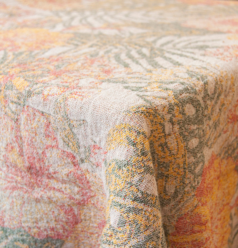 Softened Linen + Cotton Blanket, Jacquard, 200 cm x 240 cm, collection 'WRAP ME UP, BABY' - Treasure Box