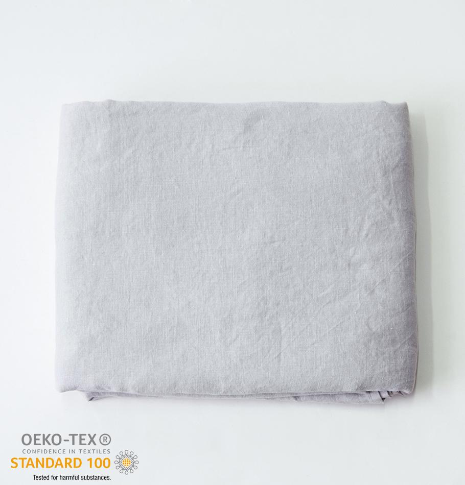 100% Softened Linen Duvet Cover 'ON THE MEADOW...', 200 cm x 220 cm, #1292 sunset cloud
