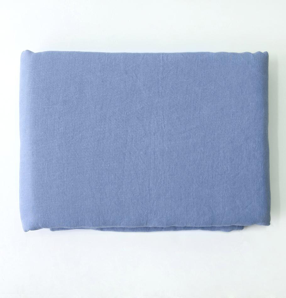 100% Softened Linen Duvet Cover 'ON THE MEADOW...', #78 stormy sky