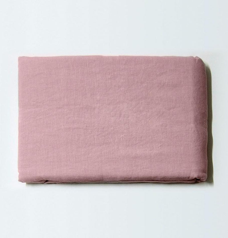100% Softened Linen Duvet Cover 'ON THE MEADOW...', 153 cm x 215 cm, #1503 pink