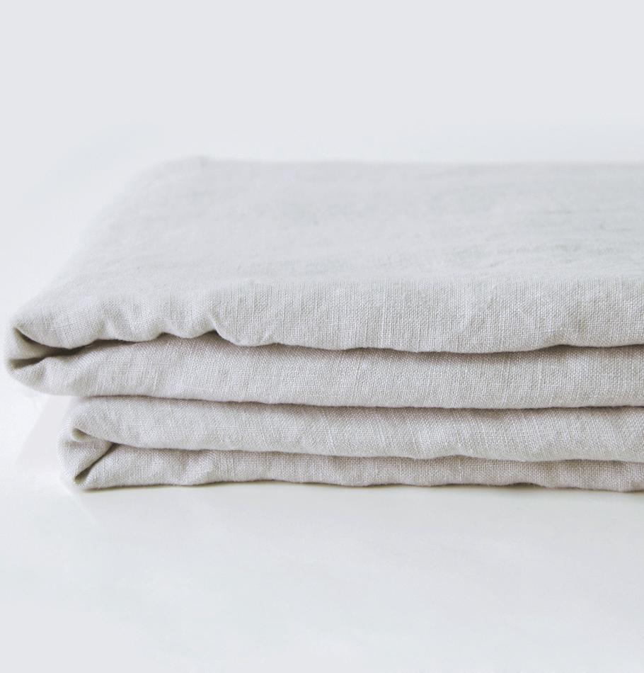 100% Softened Linen Duvet Cover 'ON THE MEADOW...', #530 sea cloud