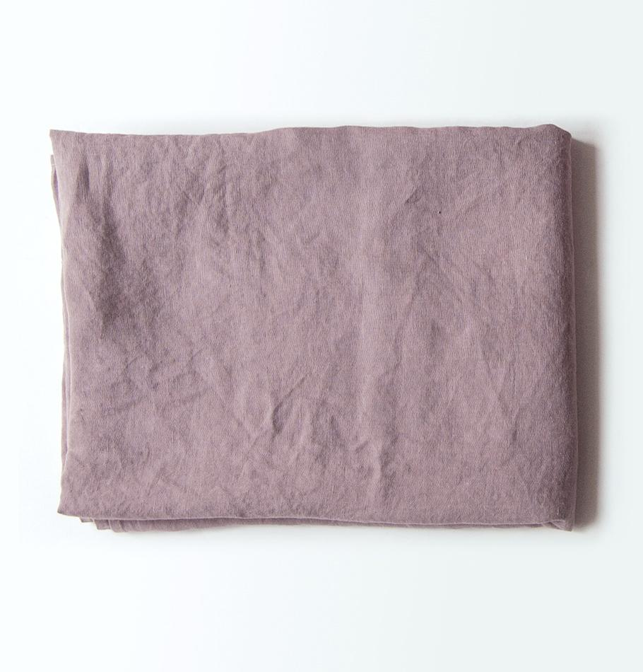 100% Softened Linen Duvet Cover 'ON THE MEADOW...', #1555 dusty rose