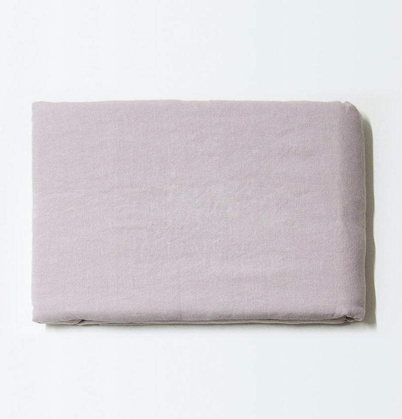 100% Softened Linen Duvet Cover 'ON THE MEADOW...', #320 misty rose - Treasure Box