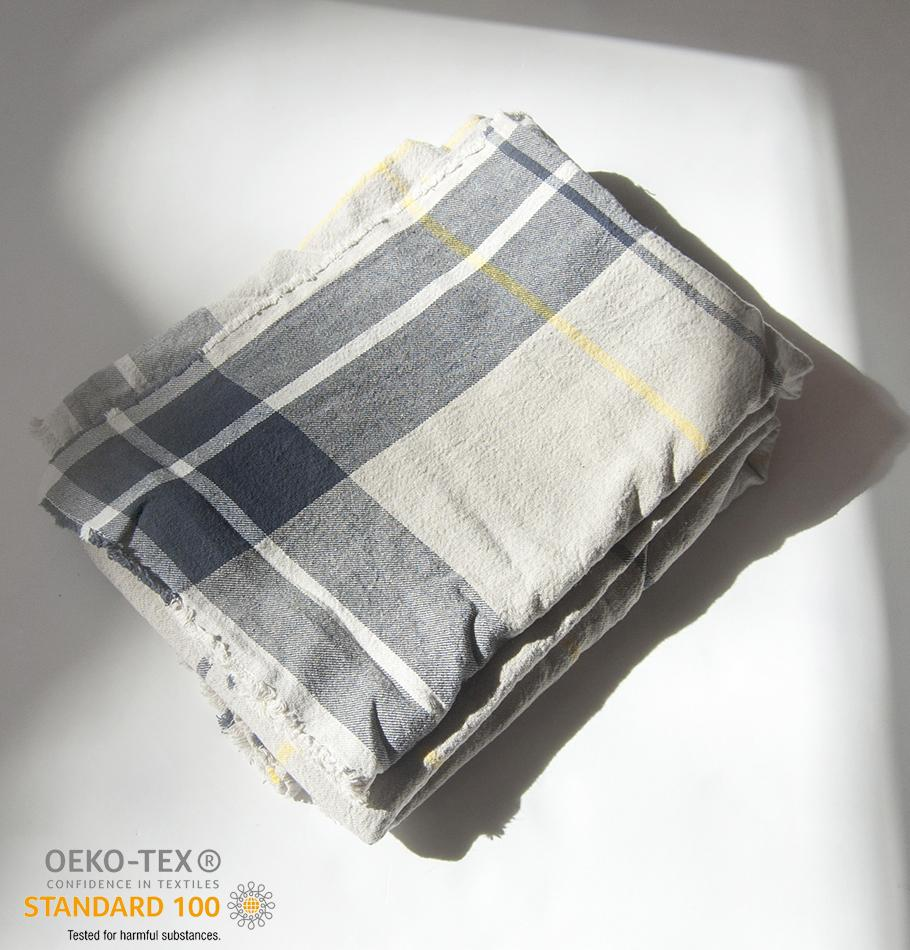 Linen + Cotton Blanket, 140 cm x 200 cm, collection 'WRAP ME UP, BABY' - Treasure Box