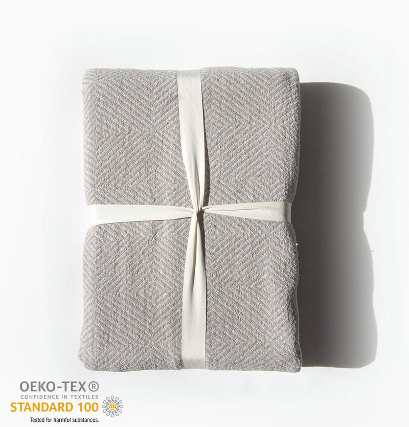 100% Softened Linen Blanket, 215 cm x 230 cm, collection 'WRAP ME UP, BABY' - Treasure Box