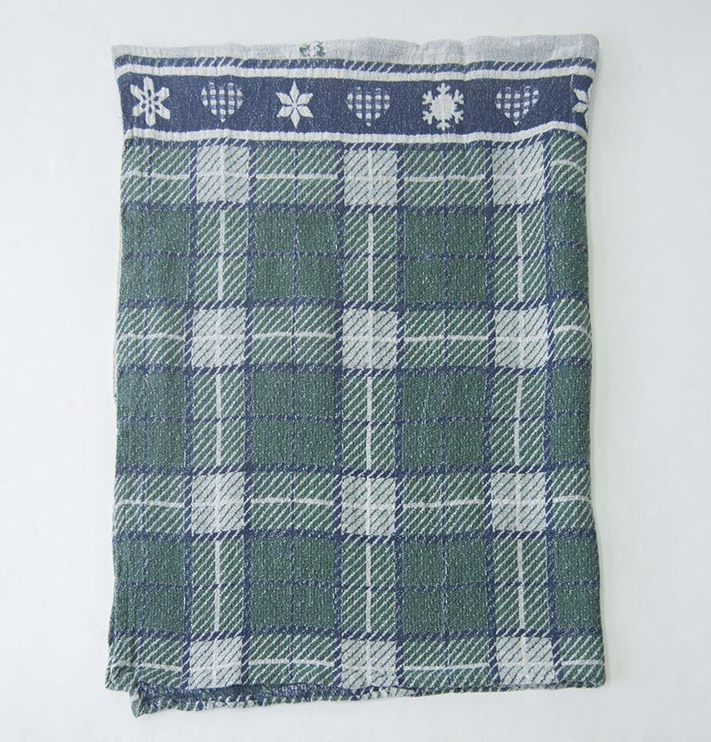 Linen Jacquard Blanket double-sided, 120 cm x 160 cm, 'SHALET1' - Treasure Box