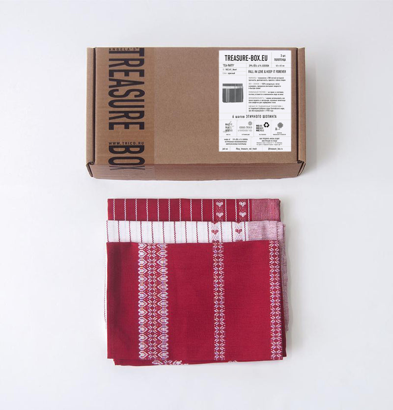 Linen + Cotton Jacquard Tea Towels double-sided