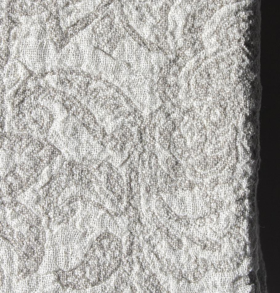 Softened Linen Blanket, Jacquard, 155 cm x 220 cm, collection 'WRAP ME UP, BABY'