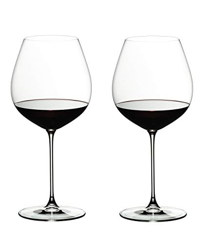 Riedel Veritas Old World Pinot Noir, Set of 2 Red Wine Glasses