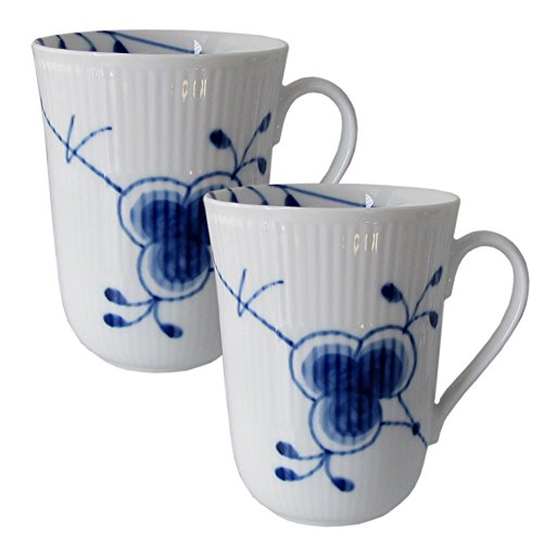 Royal Copenhagen Mussel Mega Blue mugs 33 cl 23810 Pack of 2