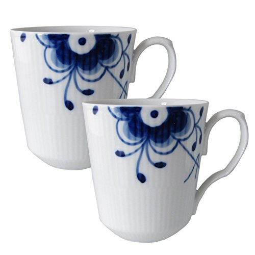 Royal Copenhagen Blue Fluted Mega Mug 37cl - Set of 2