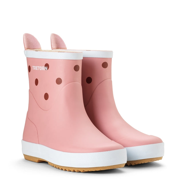 Tretorn Wings Kids Natural rubber boot, Kids Wellies, light rose