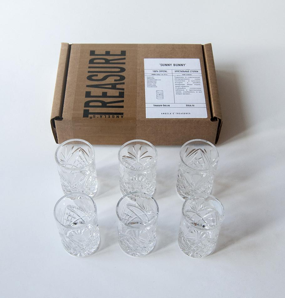 Crystal shot, 40 ml, 6 pc, 'SUNNY BUNNY'