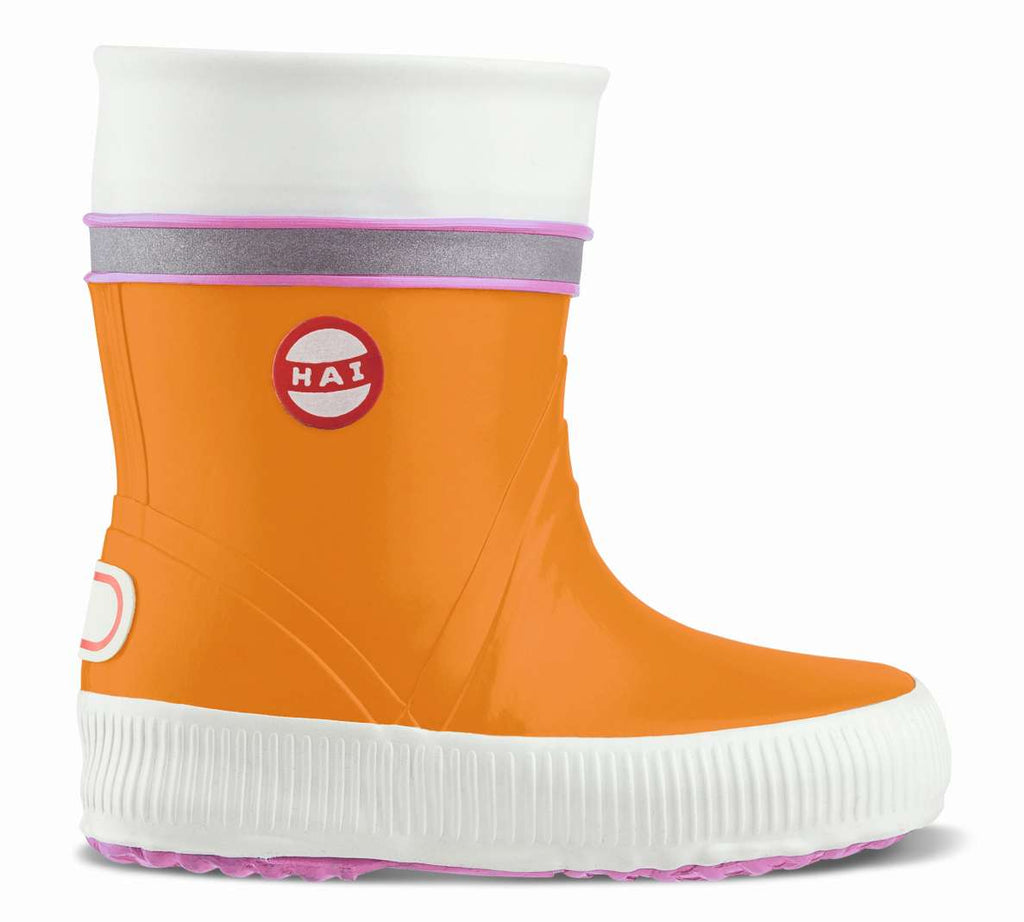 Nokian Footwear Mädchen Natural rubber boot, Kids Wellies, orange