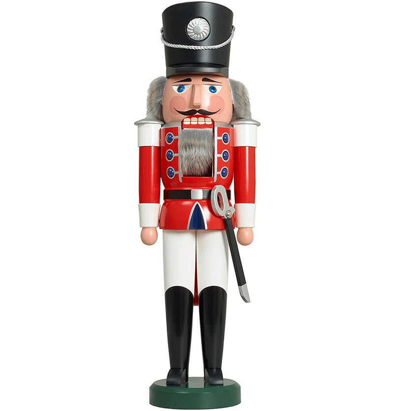 German Nutcracker King, 50 cm, natural wood, original Erzgebirge by Seiffener Volkskunst