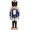 German Nutcracker King hussar red, 39 cm, natural wood, original Erzgebirge by Seiffener Volkskunst