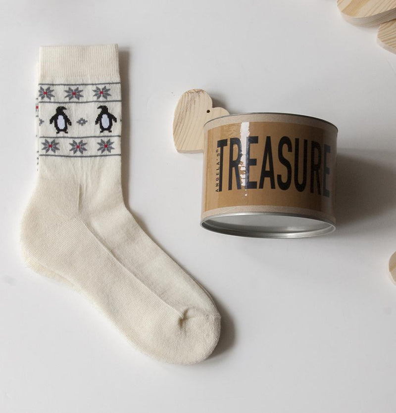 "Носки Hygge ""WARM FEET - WARM HEART""- Treasure Box"