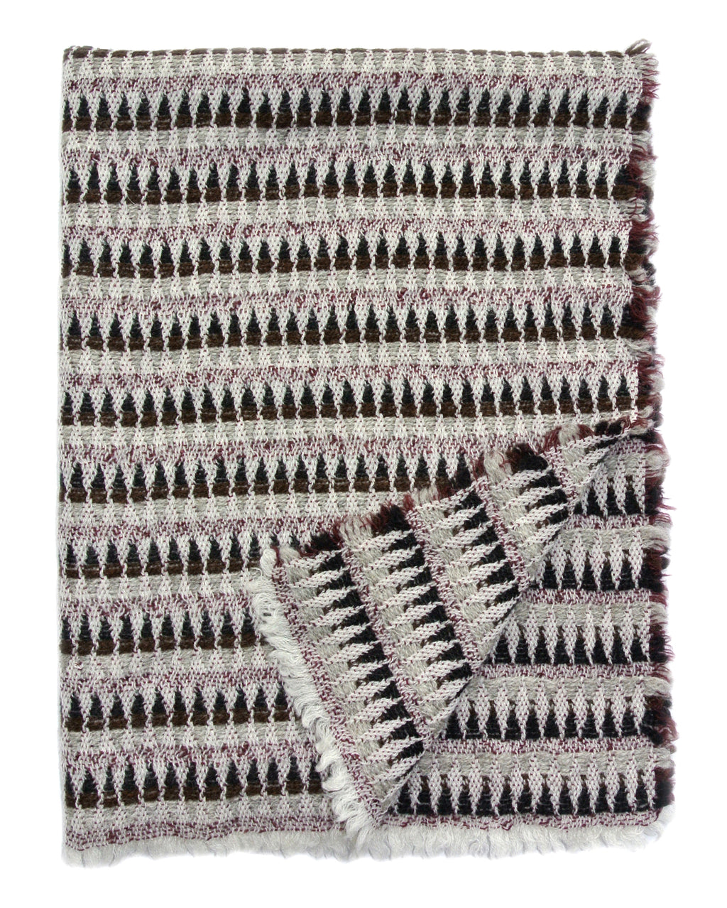100% Woolen Baby Blanket 'Harlequin gray, brown', 67 х 88 cm, by Kelpman Textile, Estonia