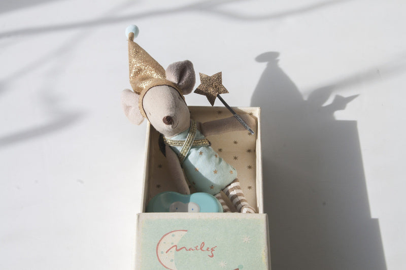 Tooth Fairy, Big Brother Mouse with Metal Box, 12 cm - Treasure Box
