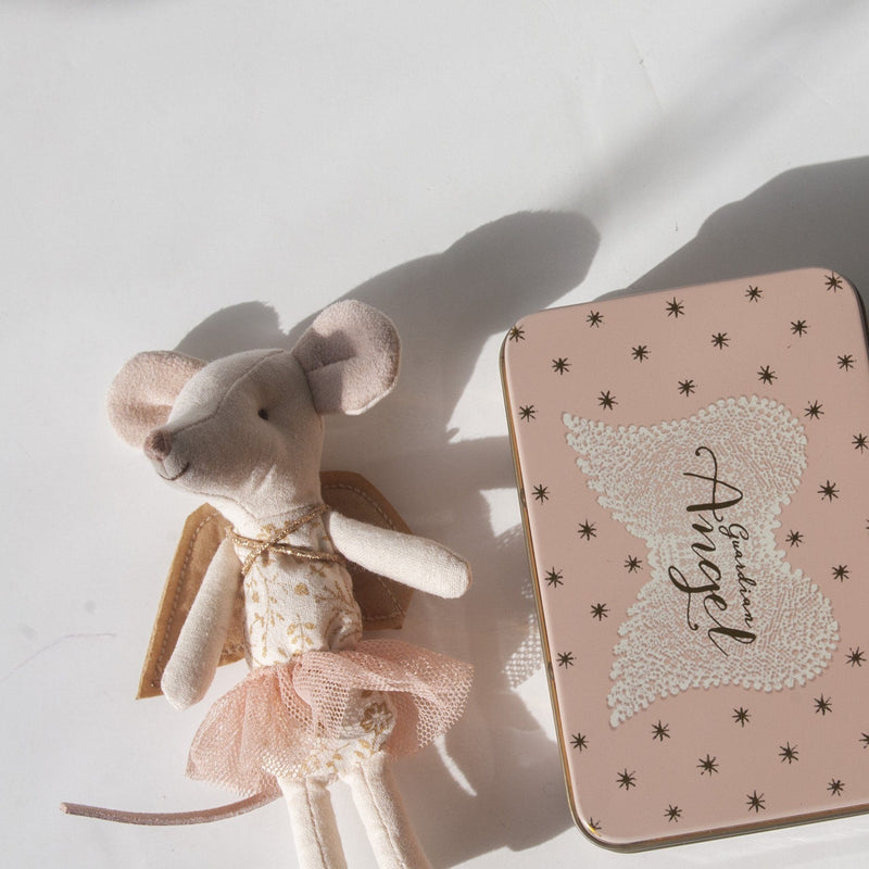 Guardian Angel Mouse Big Sister in Suitcase, 10 cm