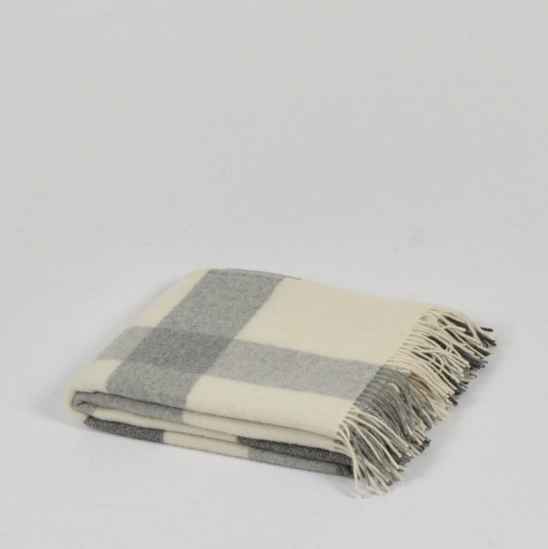 100% Lambs Wool Throw / Blanket 'Eli', 140 x 200 cm, collection 'HUG ME MORE...soft' by Drobe, Lithuania,1920 - Treasure Box