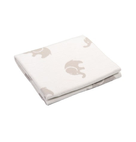 100% Cotton Flannelette Blanket, double-sided, 'BABY ELEPHANTS' - Treasure Box