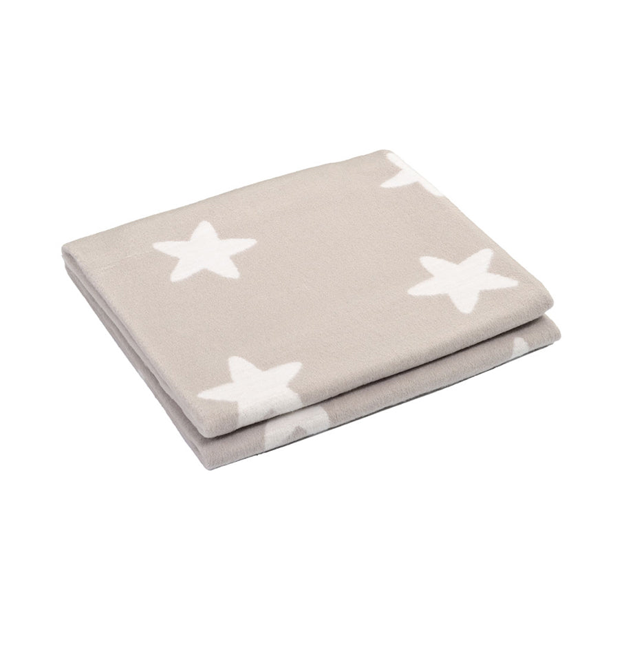 100% Cotton Flannelette Blanket, double-sided, 'STARS' - Treasure Box