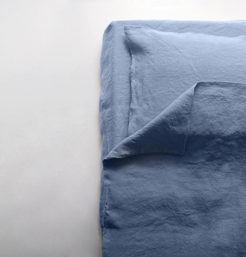 Washed Linen Bedset: Duvet Cover, 2 Pillowcases