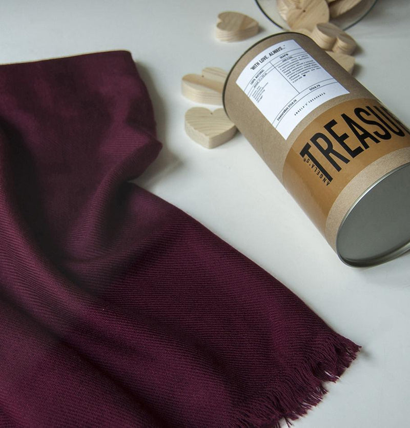Scarf 'With love...always', 100% natural