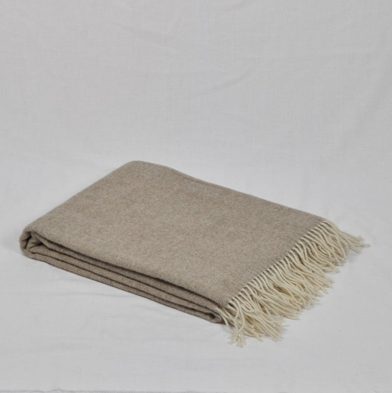 100% Merino Wool Throw / Blanket 'Classic', 140 x 200 cm, collection 'HUG ME MORE...soft' by Drobe, Lithuania,1920 - Treasure Box