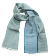 100% Wool Scarf 'Duo', 48 x 210 cm, by Kelpman Textile, Estonia