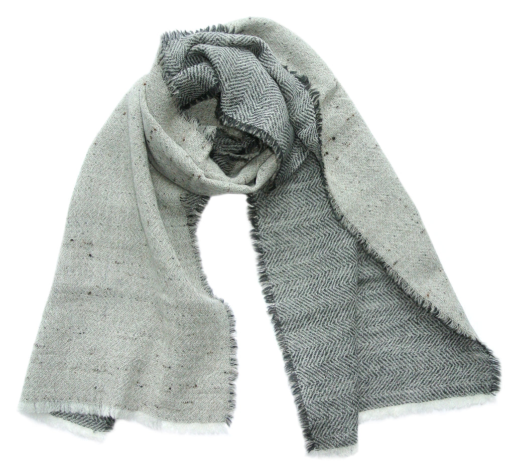 100% Wool Scarf 'Duo', 47 x 205 cm, by Kelpman Textile, Estonia