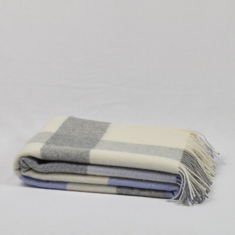 100% Lambs Wool Throw / Blanket 'Eli', 140 x 200 cm, collection 'HUG ME MORE...soft' by Drobe, Lithuania,1920