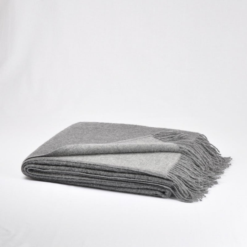 100% Merino Wool Throw / Blanket double-sided 'Etno', 140 x 200 cm, collection 'HUG ME MORE...soft' by Drobe, Lithuania,1920 - Treasure Box