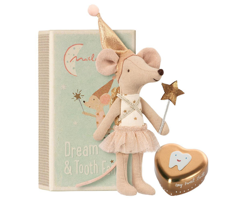 Tooth Fairy, Big Sister Mouse with Metal Box, 12 cm - Treasure Box