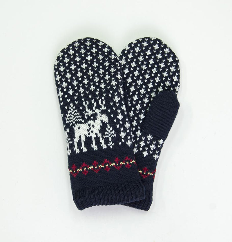 100% Wool Mittens  'DEER'