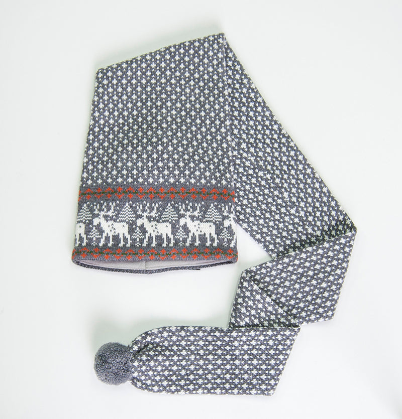 100% Wool Hat-Scarf 'DEER' - Treasure Box