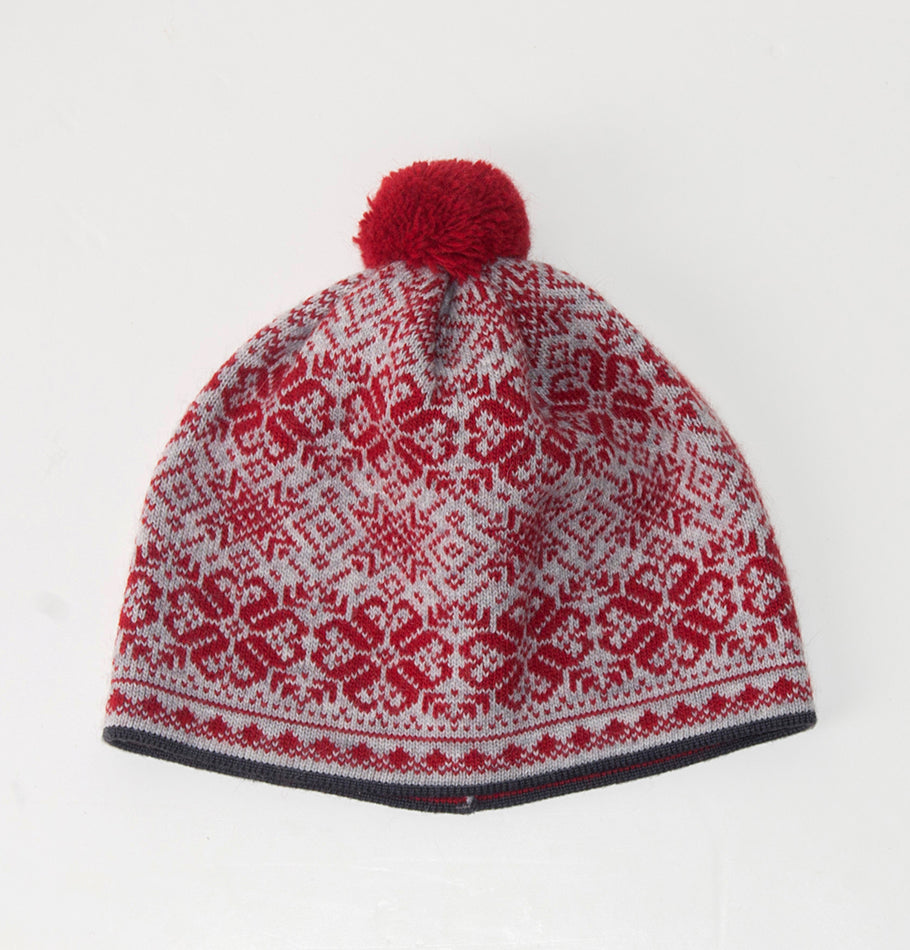 Wool Pompon Hat 'NORDIC STAR' - Treasure Box