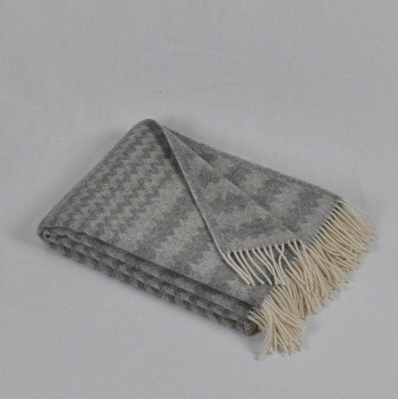 100% Lambs Wool Throw / Blanket 'Anika', 140 x 200 cm, collection 'HUG ME MORE...soft' by Drobe, Lithuania, 1920