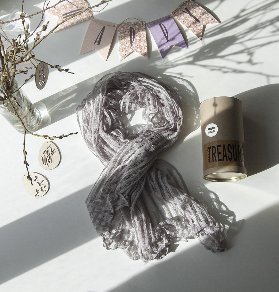 100% Linen Scarf / Poncho / Pareo 'Nancy'