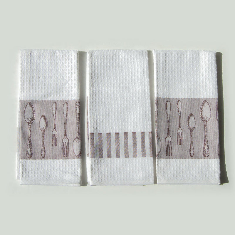 "Jacquard Tea Towels double-sided ""FOREVER & EVER...the wave made"""