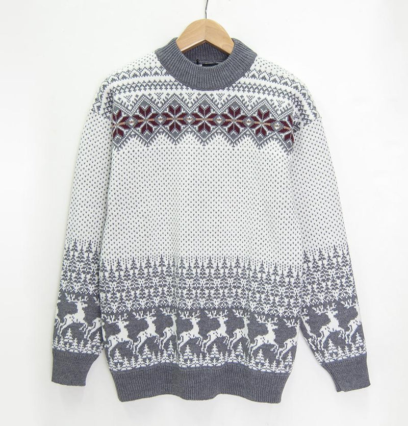 100% Wool Boyfriend Pullover 'TOMAS' - Treasure Box