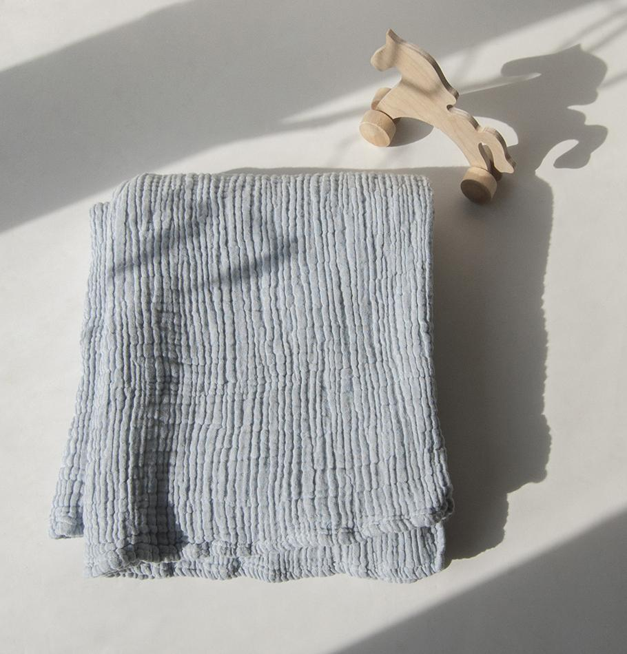 Crepe Blanket, 100% Cotton, double-sided, 90 x 120 cm 'LOVE YOU TO THE MOON' - Treasure Box