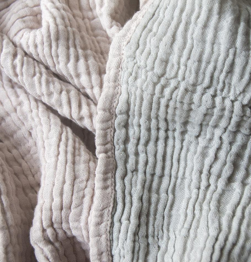 Crepe Blanket, 100% Cotton, double-sided, 90 x 120 cm 'LOVE YOU TO THE MOON'
