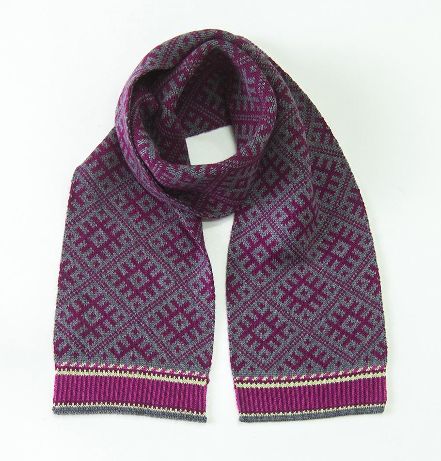 Woolen Scarf double-sided 'NORDIC STAR'