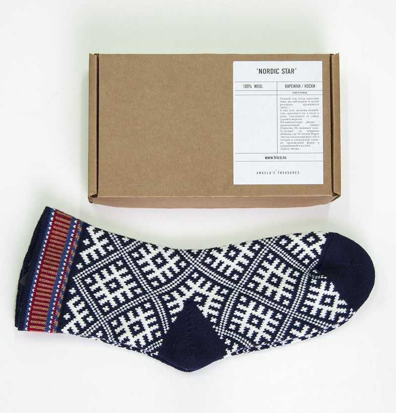 100% Wool Socks 'TILDA', size 41-43 - Treasure Box