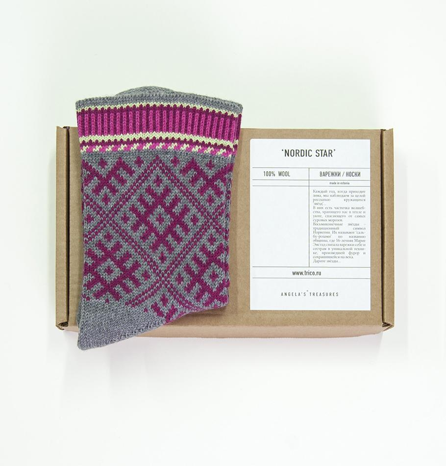 100% Wool Socks 'TILDA', size 37-39 - Treasure Box